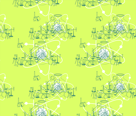 Marie_Curie_Pattern fabric by sophie_s on Spoonflower - custom fabric
