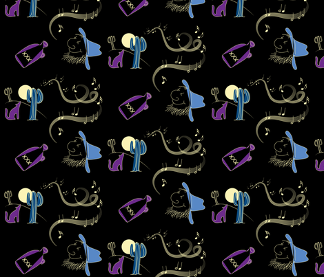 Old Trackers' Song fabric by spontaneouscombustion on Spoonflower - custom fabric
