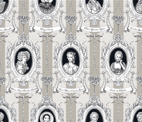 Toile de Jouy - Science Women fabric by juliesfabrics on Spoonflower - custom fabric