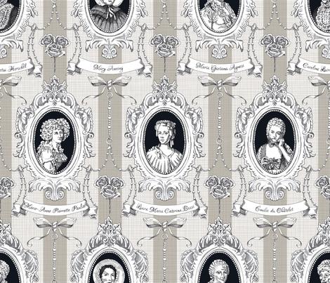 Toile de Jouy - Science Women fabric by juliesfabrics on Spoonflower - custom fabric