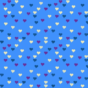 Bedtime Hearts on Evening Blue