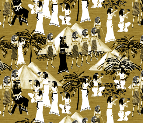 Cleopatra fabric by kociara on Spoonflower - custom fabric