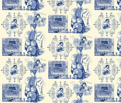 Ada Lovelace Toile fabric by goodluckhoney on Spoonflower - custom fabric