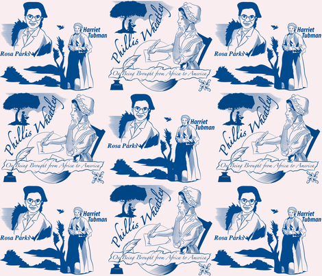 blackheroines fabric by scifiwritir on Spoonflower - custom fabric