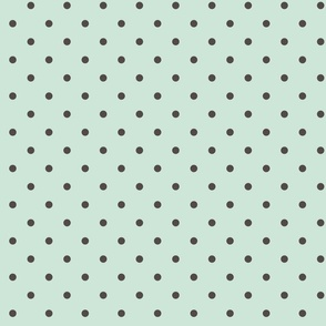 Mint Gray Polka