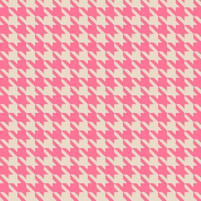 Houndstooth pink