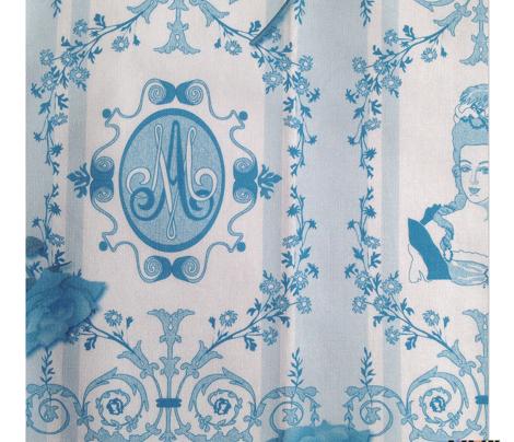 Marie-Antoinette Monogram (Aqua)