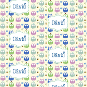 Owl Friends Blue - Personalized