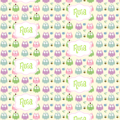 Owl Friends Pink - Personalized
