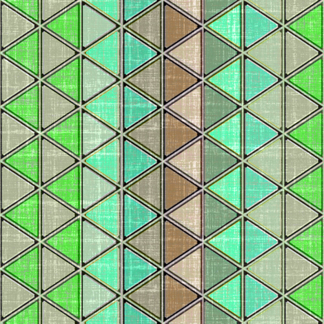 Linen Geometric Triangle Carribbean fabric by joanmclemore on Spoonflower - custom fabric
