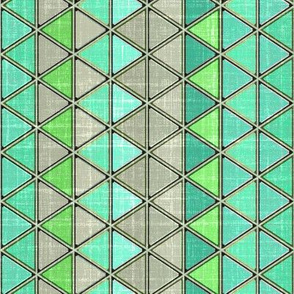Linen in Triangles green