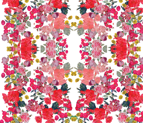 Antique Roses/Floral on White fabric by theartwerks on Spoonflower - custom fabric