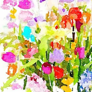 Summer Watercolor Floral Bouquet