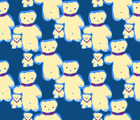Teddy_and_little_bear_1 fabric by ruthjohanna on Spoonflower - custom fabric