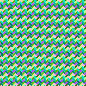 Bright Pastels Herringbone