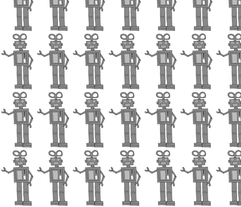 Robot fabric by craftwithcartwright on Spoonflower - custom fabric