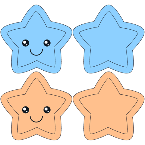 Star Swatch Toy- blue and orange