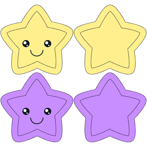 Star Swatch Toy- purple and yellow
