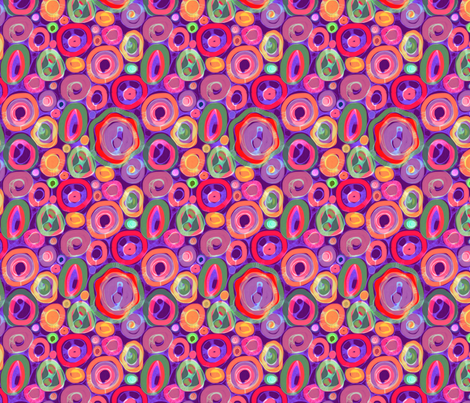 Bright Painted Geodes fabric by elramsay on Spoonflower - custom fabric