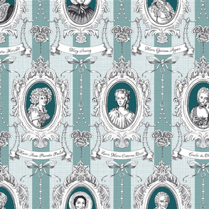 Toile de Jouy - Science Women Teal