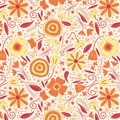 Fresh Floral Orange and Yellow SMALL
