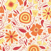 Fresh Floral Orange and Yellow
