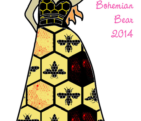 Black and Yellow Beehive Honeycomb Hexagon