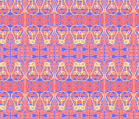 Brown_Emma_Pattern_Science fabric by mnmbrownie on Spoonflower - custom fabric