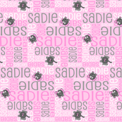 Personalised Name Design - Elephants in Pink and Grey