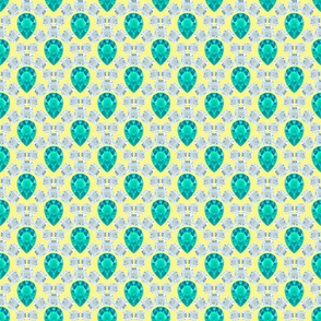 Diamond-Emerald scales on yellow
