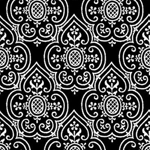 Lace Medallion ~ Black and White