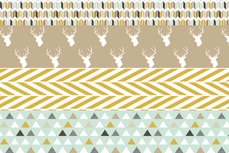 Deer Quilt Large Stripes fabric by mrshervi on Spoonflower - custom fabric