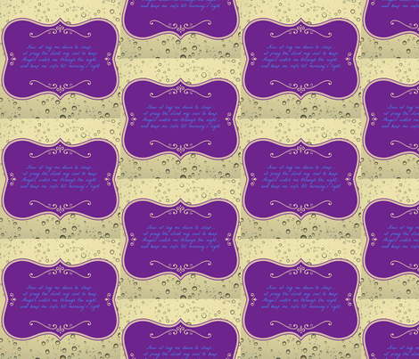 Now I Lay Me Down To Sleep fabric by ginascustomcreations on Spoonflower - custom fabric