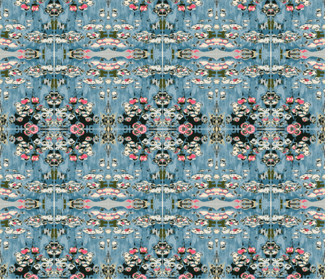 Water lilies  fabric by hollyballs3 on Spoonflower - custom fabric