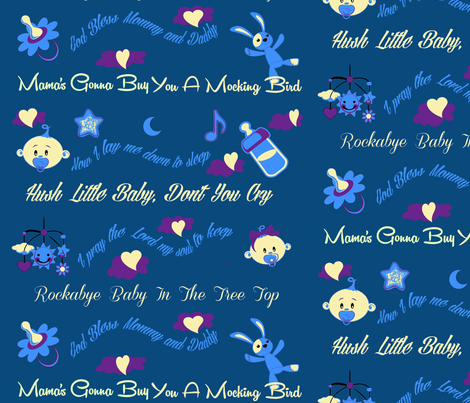 Lullaby Baby fabric by charldia on Spoonflower - custom fabric