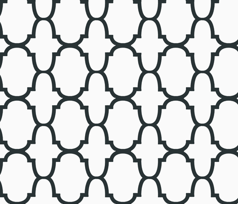 Quatrefoil- Charcoal/White