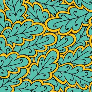 green oak pattern