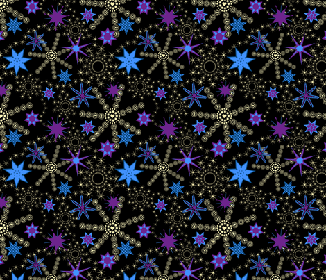 Sleeping under the stars fabric by alexsan on Spoonflower - custom fabric