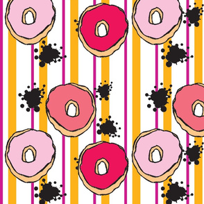 Graffiti Donuts in Stripes