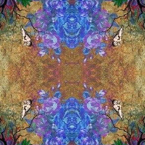 Fragrant Bluebelles, Cherubs and a Wrought Iron Fence
