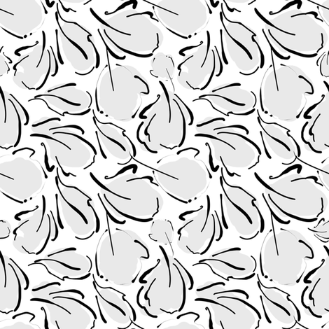 Modern Leaves low volume  fabric by joanmclemore on Spoonflower - custom fabric