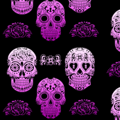 Sugar Skull Purple Ombre