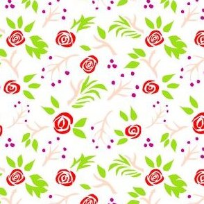 Graphic Roses in Red