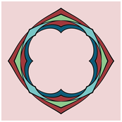 CJC Pink Art Nouveau Napkin