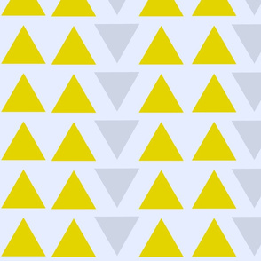 Mustard and Grey Triangles