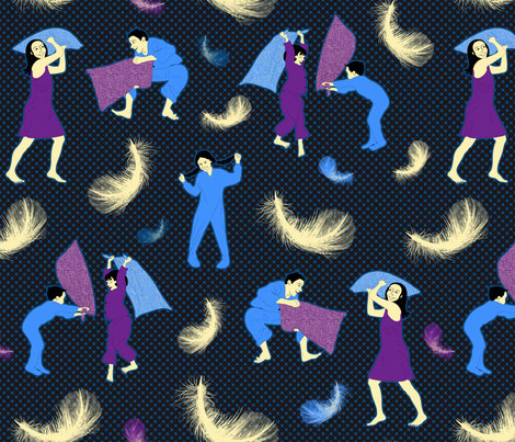 Pillow Fight fabric by vannina on Spoonflower - custom fabric