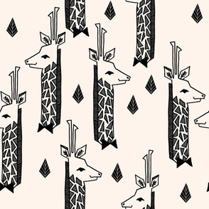 Giraffes - Champagne/Black/Charcoal by Andrea Lauren