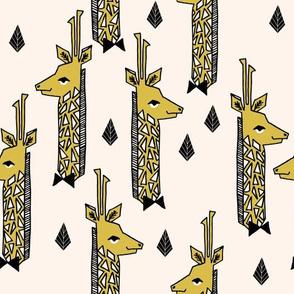 Giraffes - Champagne/Black/Mustard