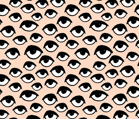 I See You - Eyes - Blush by Andrea Lauren fabric by andrea_lauren on Spoonflower - custom fabric