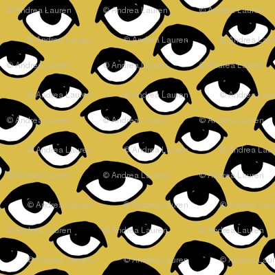 I See You - Eyes - Mustard/Black/White